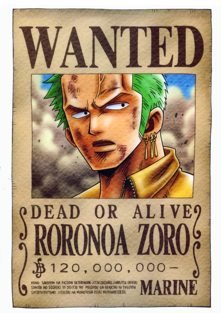 Wanted - One piece 2 ans plus tard wanted ...